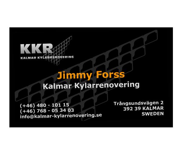Visitkort Kalmar Kylarrenovering - Portfolio Webb&Form