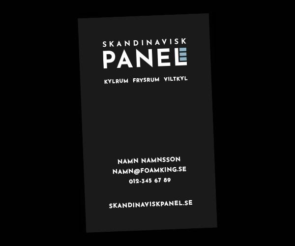 Visitkort Skandinavisk Panel - Portfolio Webb&Form