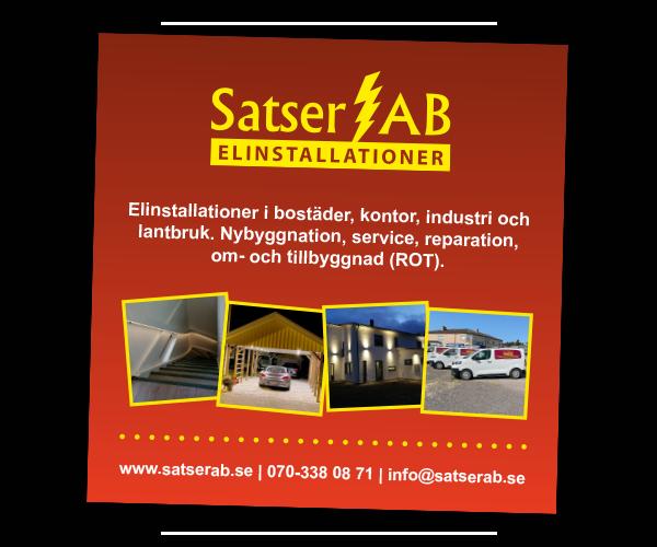 Annons Satser Elinstallationer AB - Portfolio Webb&Form