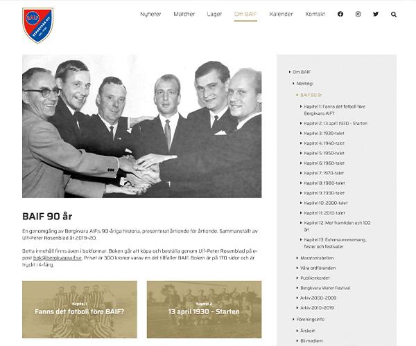 Hemsida Bergkvara AIF - Portfolio Webb&Form
