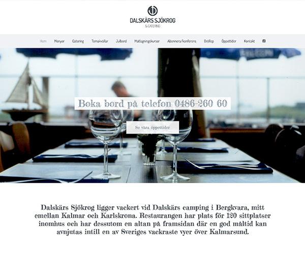 Hemsida Dalskärs Sjökrog - Portfolio Webb&Form