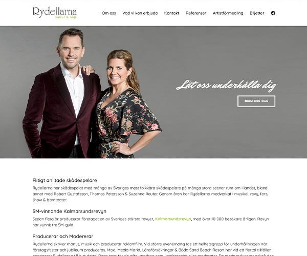 Hemsida Rydellarna - Portfolio Webb&Form