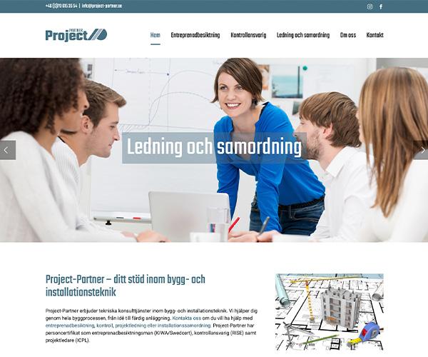 Hemsida Project Partner - Portfolio Webb&Form
