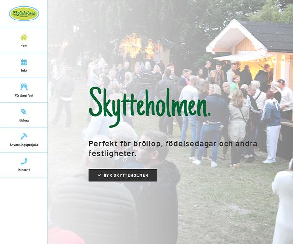 Hemsida Skytteholmen - Portfolio Webb&Form